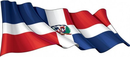 Dominican Republic Flag with its shield our pride and honor