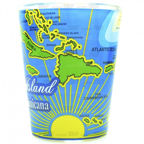 Shot Glass Caribbean Islands