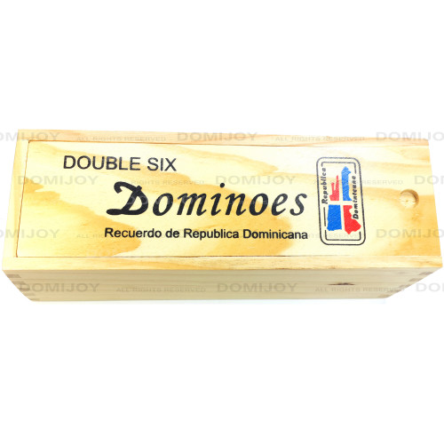 Double Six-Blue Red Map Dominoes