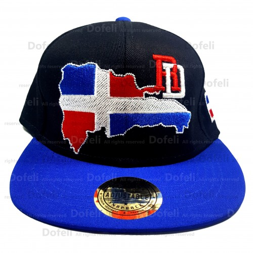 dominican-black-blue-visor-rd-map-adjustable-cap-0