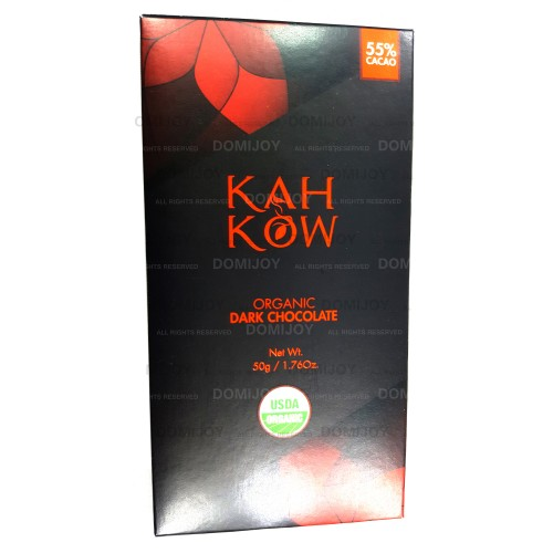 Organic Kah Kow Dominican Snack and Meal 70% Cacao Dark Chocolate Bar 1.76 Oz