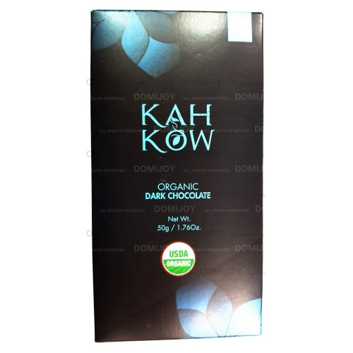 Organic Natural Healthy Kah Kow Dominican 62% Cacao Dark Chocolate Bar 1.76 Oz