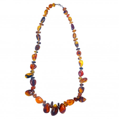 Dominican Amber Gem Beads Collar Flora Inclusion