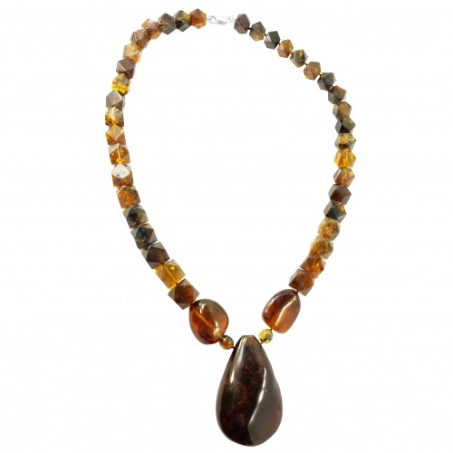 Dominican Blue Amber Jewel Strand Beads