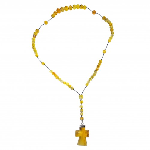 Dominican Amber Jesus Cross Crucifix