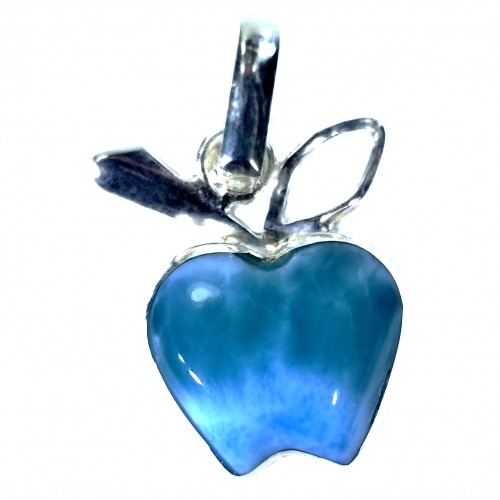 Apple shaped Dominican Larimar Stone Pendant