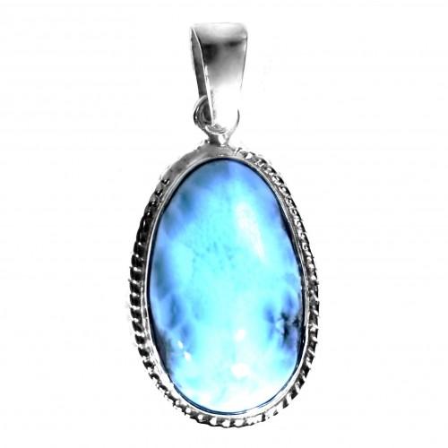 Dominican Larimar Stefilia's Gemstone Pendant
