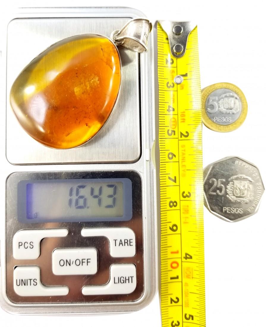 Dominican Amber Precious Gem Pendant